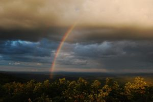 Rain Bow on top of New Jersey by Bass4819