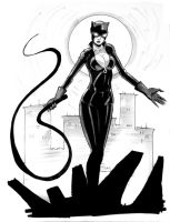 NC Comicon sketch: Catwoman by Shono