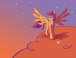 Scootaloo Sunset by SagebrushPony