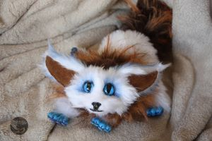 Vulpon - the dragon fennec posable hand made doll by Hakkatu
