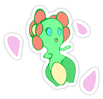 Bellossom Sticker (Links in Des) by SkellerArt