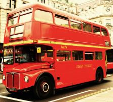 The London Bus by Silvanne