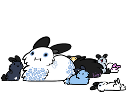 Fluff Butts by krizpie