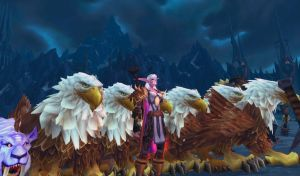 Gryphon Army -WoW by randompuppet