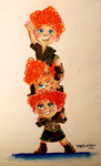 Triplets from Brave by ClauCalderon
