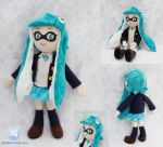 Splatoon Inkling Girl Plush More Views by dollphinwing