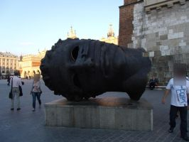 Krakow Rynek Glowny Statue by the-night-bird