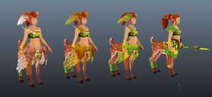 Enchantress wings armour testure pass 1 by Anuxinamoon