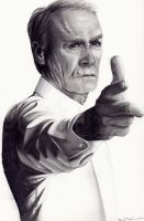 Clint Eastwood by LackadaisicalCat