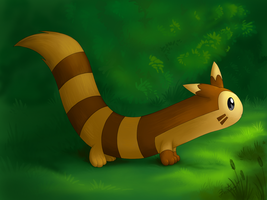 Furret at the forest by Bestary