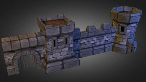 Medieval Stone Castle 3D Low Poly by 3DGameModelsNet