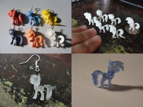 Mane 6 MLP Charms by silverbeam