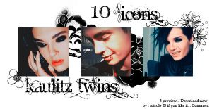 10 icons Kaulitz Twins by niicoole