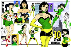Ultra Girl -30th tribute 2008 by LegacyHeroComics
