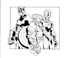 Cap, Wolvie and Ironman by LoganLee