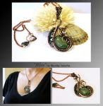 Aline- wire wrapped copper necklace by mea00
