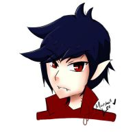 Marshall Lee Human Form by BlazingCore