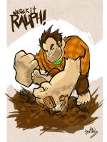 Wreck it Ralph Fanart by favius