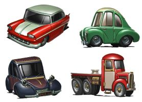 Cars quick coloring by warlockss