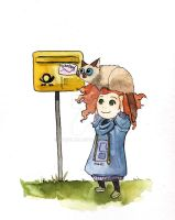 You and Me at the Letterbox. by Narolah