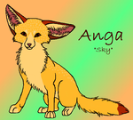 Anga the fennec fox by Schorchingskys