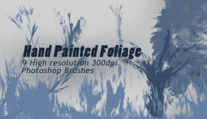 9 High Resolution Hand Painted Foliage Brushes by designerfied