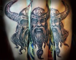 Viking sleeve progress 2 by gettattoo