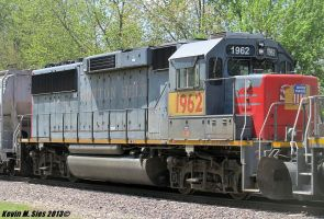 Original Cotton Belt painted GP60 1962 patched by EternalFlame1891
