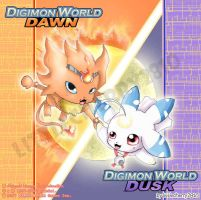 Digimon Dawn and Dusk by littlecherry2810