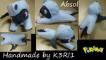 Absol Plush by K3RI1
