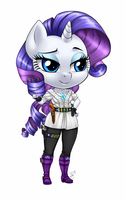 Chibi Anthro Rarity by Pia-sama