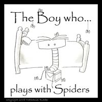 the boy who plays with spiders by stipend