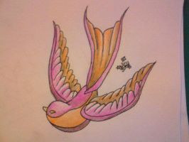 swallow design 3 by sugarskull-tattoos