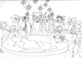 Discworld Cats: the gods. by Ludicrous1