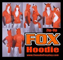 Fox Hoodie Kitsune Cosplay by KayPikeFashion