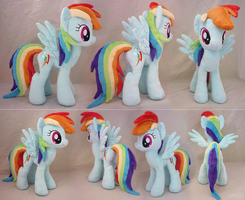 Rainbow Dash Plush by lazyperson202