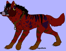 Demon Wolf Adoption by Ember-Flame007