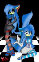 Twin sisters: Good and evil by DiscoSaeba