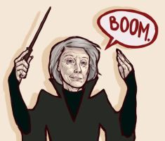McGonagall, Prof of Badassery by caffeinetooth