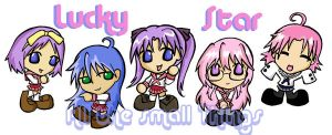 Lucky Star chibis by Kasandra-Callalily