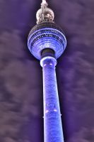 HDR Berlin TV Tower at Festival of Light 2012 by daPerforM