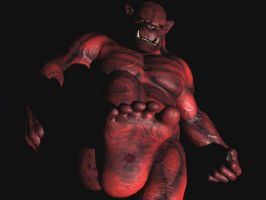 Drogmar the red demon Orc by Spino2006