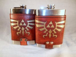 Legend of Zelda Flasks by deadlanceSteamworks