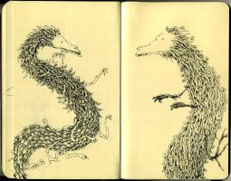 Moleskine dragons by MattiasA