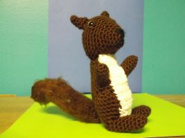 Brown Crochet Squirrel by ShadowOrder7