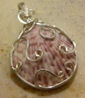 shell in silver by DPBJewelry