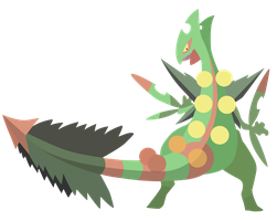 Mega Sceptile - Pokemon ORAS Vector by firedragonmatty