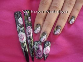 Nail art. Micropittura. Pittura cinese by natavol