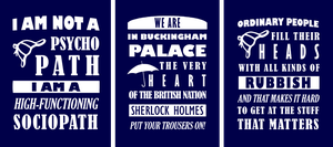 BBC Sherlock Quotes - tees by TheHalfBloodPierrot