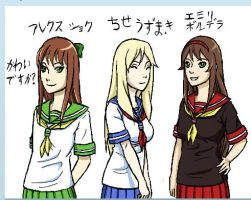 iScribble - Konoha Schoolgirls by JakeNova